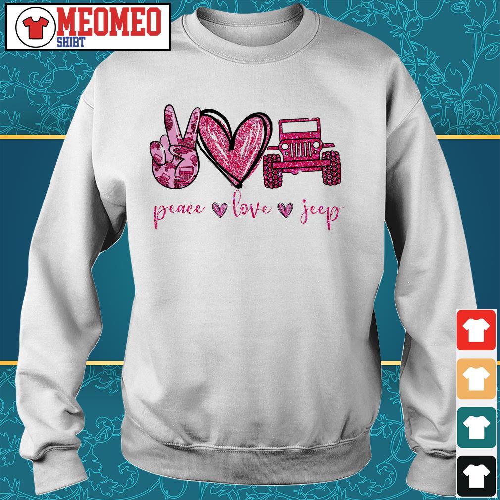 Peace love jeep Sweater