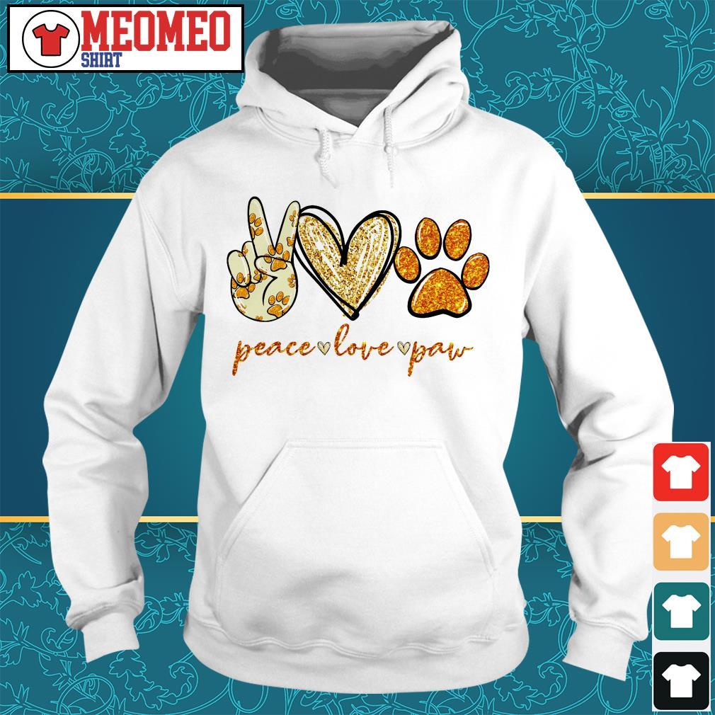 Peace love paw dog Hoodie
