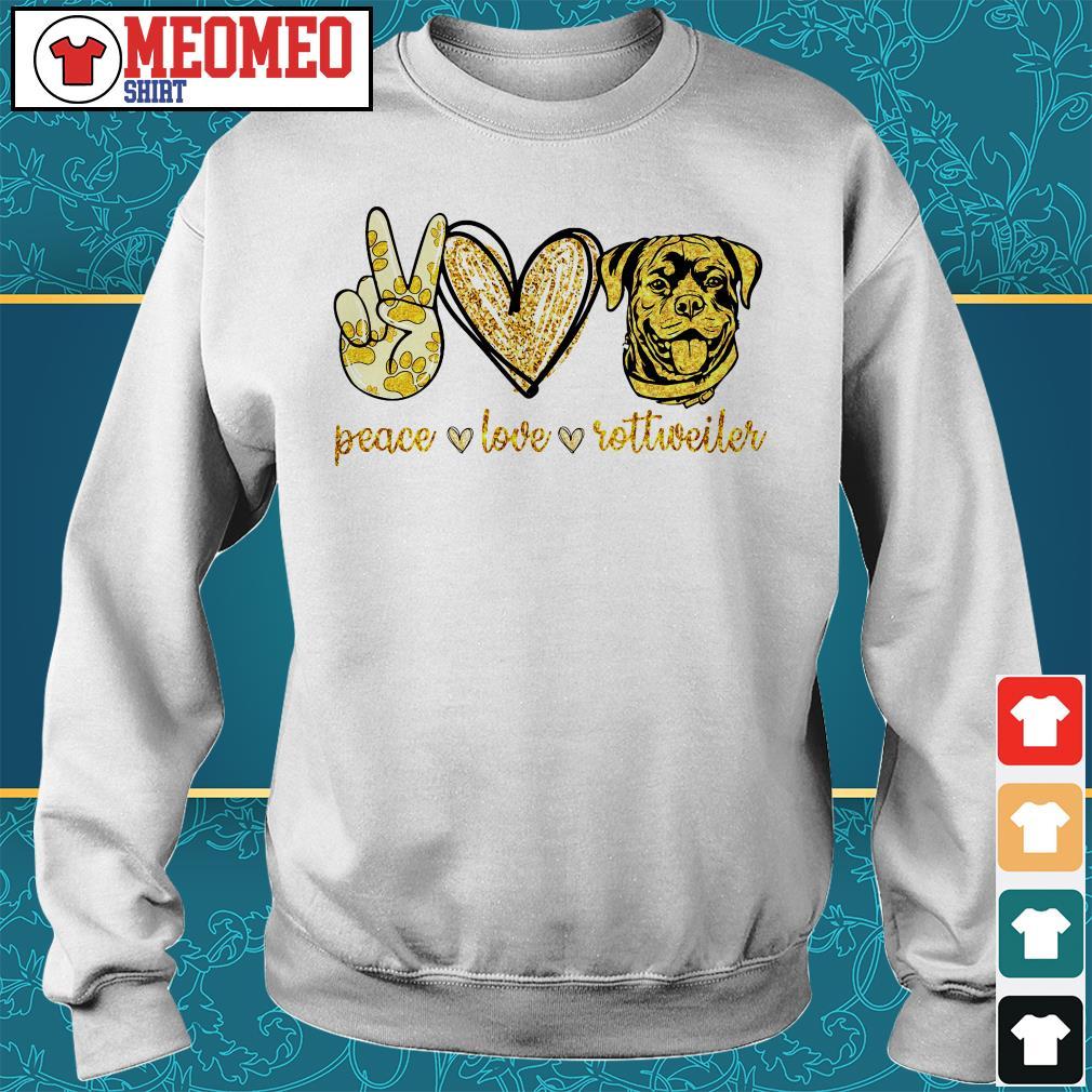 Peace love Rottweiler dog sweater