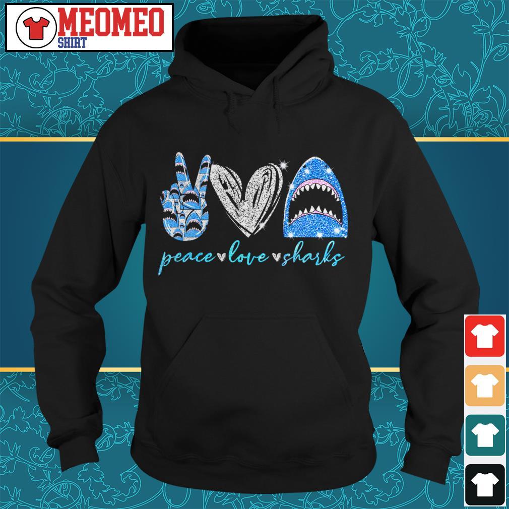 Peace Love Sharks Hoodie
