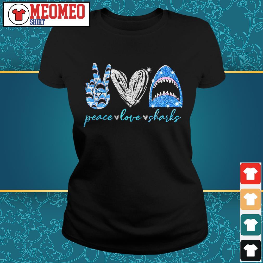 Peace Love Sharks Ladies tee