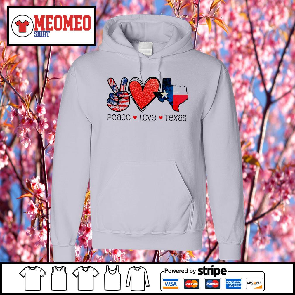 Peace Love Texas strong snovid 21 s Hoodie