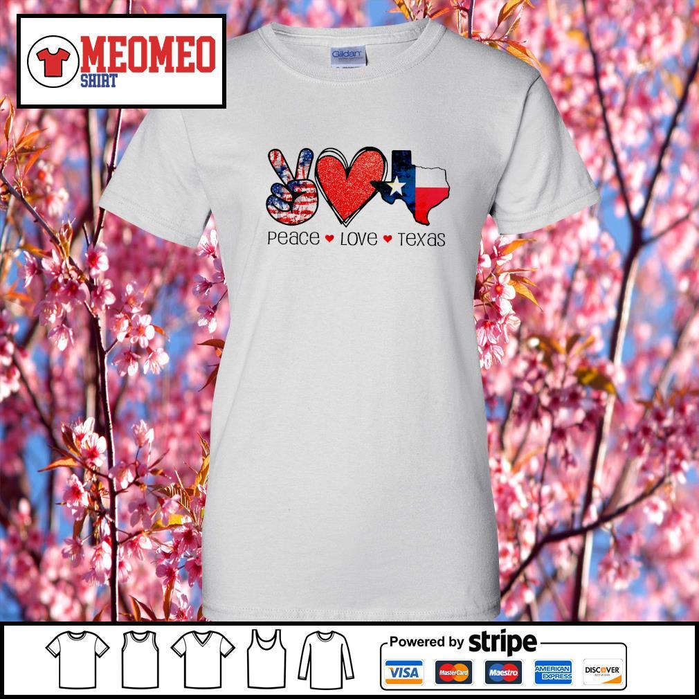 Peace Love Texas strong snovid 21 s Ladies-Tee