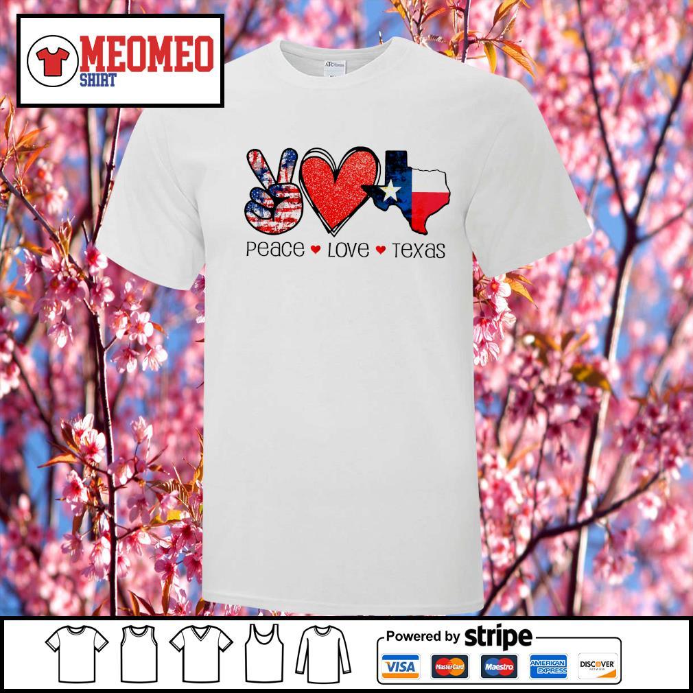 Peace Love Texas strong snovid 21 shirt