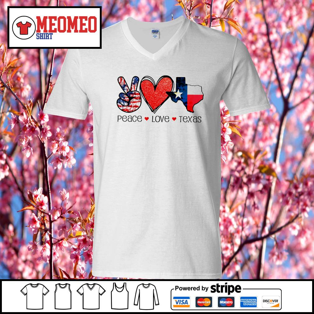 Peace Love Texas strong snovid 21 s V-neck-T-shirt