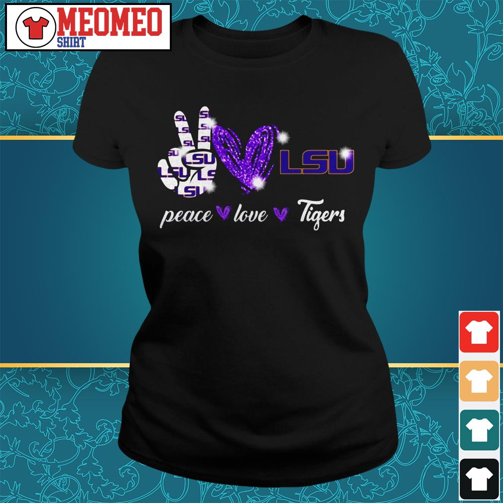 Peace love Tigers Ladies tee