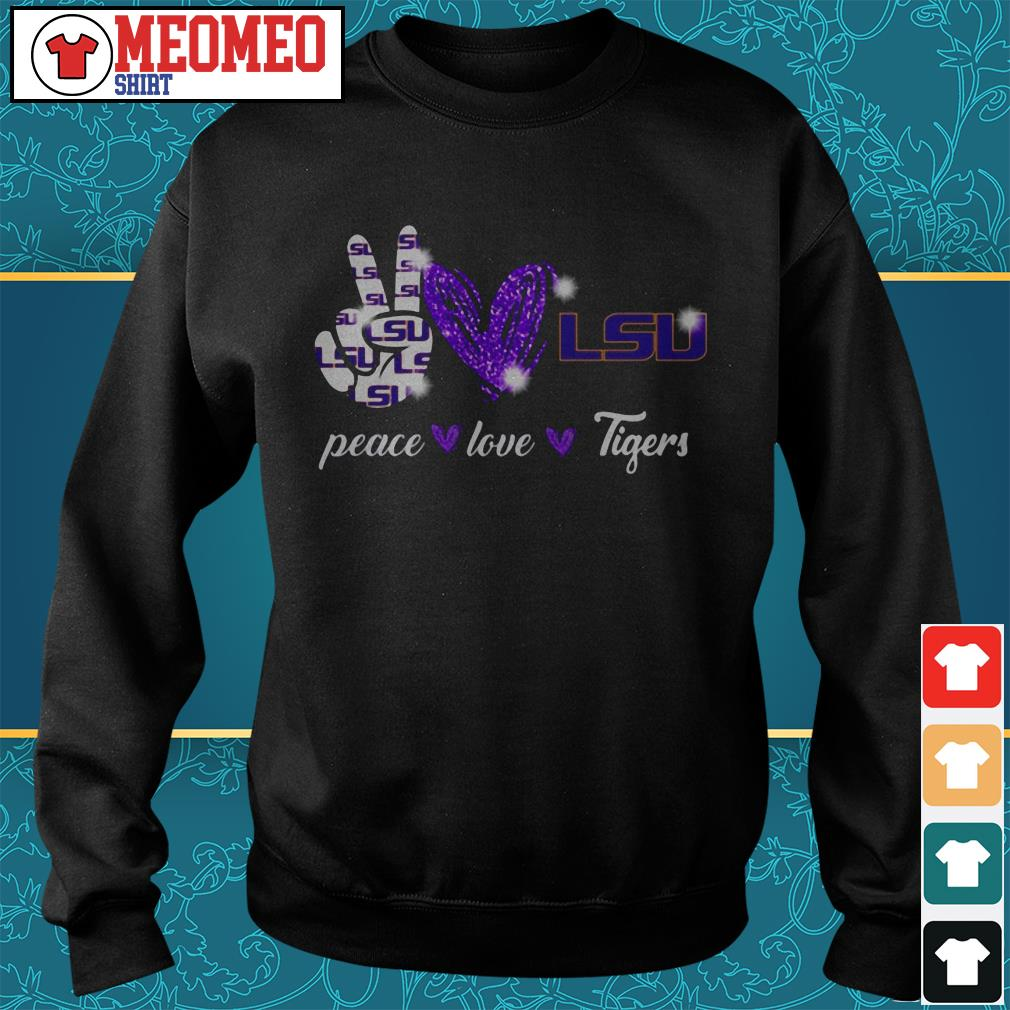 Peace love Tigers Sweater