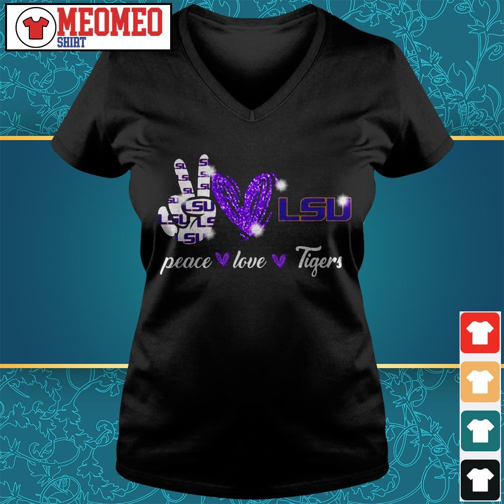 Peace love Tigers V-neck t-shirt