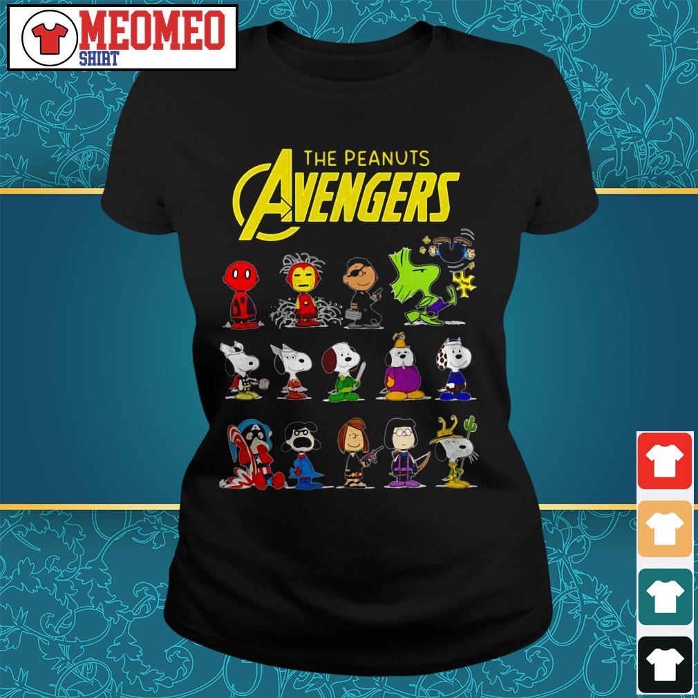 The peanut Avengers characters Ladies tee