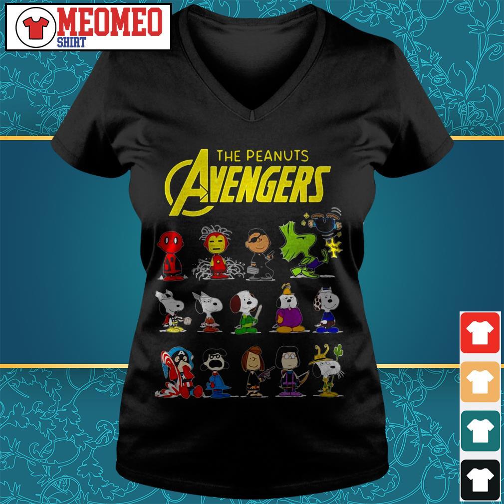 The peanut Avengers characters V-neck t-shirt