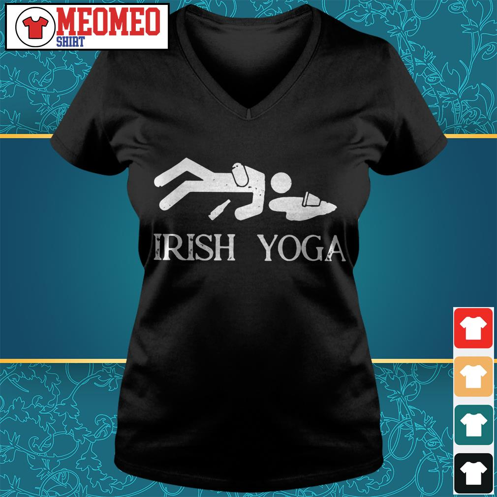 People Irish Yoga V-neck t-shirt