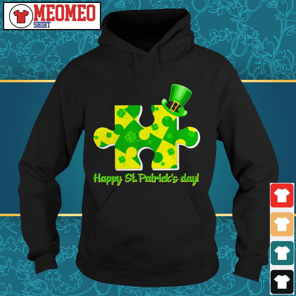 Piece of a jigsaw puzzle happy St Patrick's day Hoodie