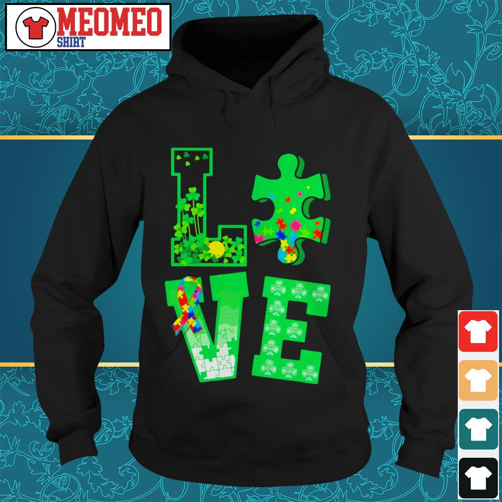 Piece of a jigsaw puzzle love St Patrick's day Hoodie