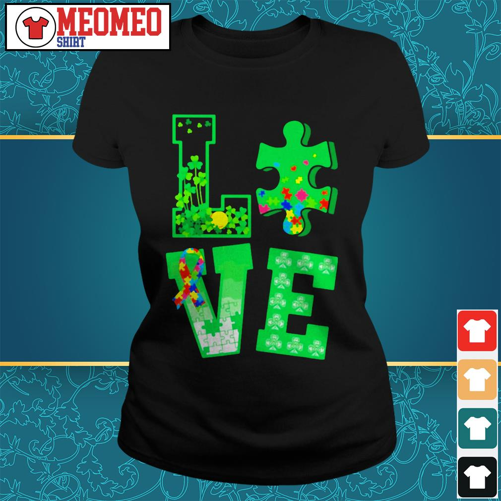 Piece of a jigsaw puzzle love St Patrick's day Ladies tee