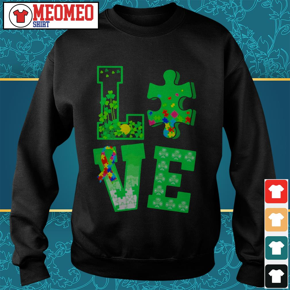 Piece of a jigsaw puzzle love St Patrick's day Sweater