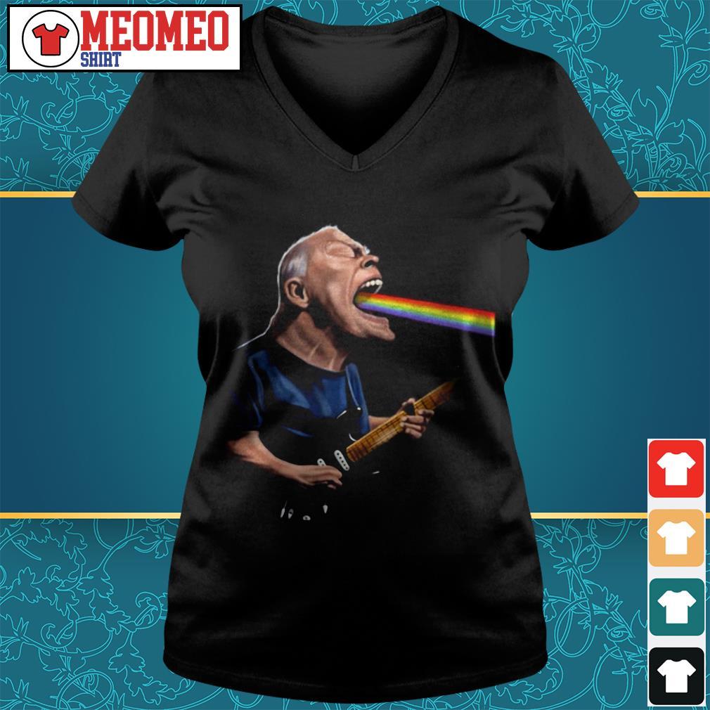 Pink Floyd David Gilmour guitarist V-neck t-shirt