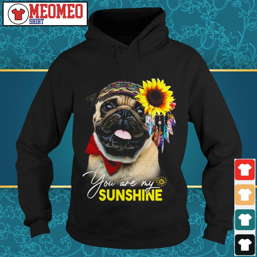 Pug dog you are my sunshine Hoodie
