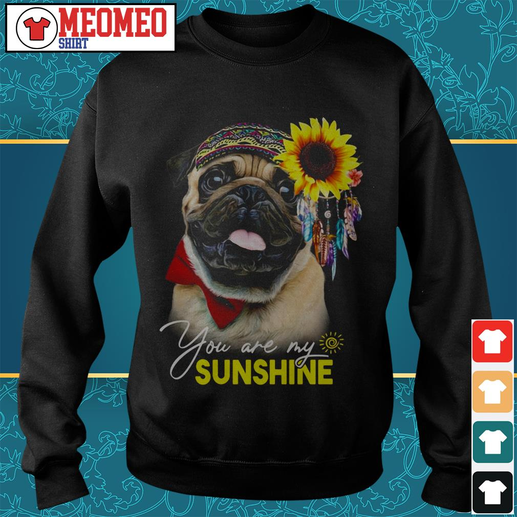 Pug dog you are my sunshine sweater