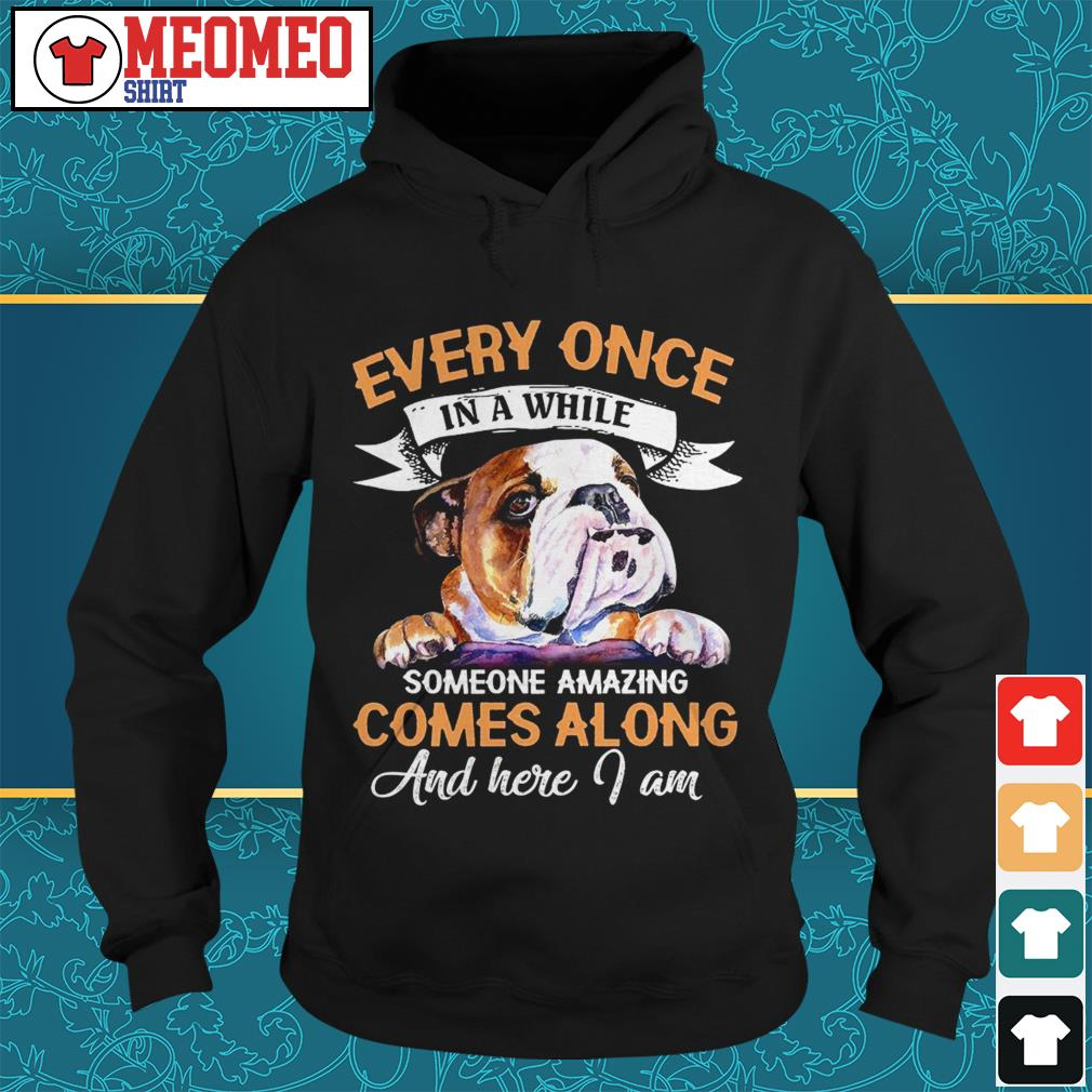 Pug Every once in a while someone amazing comes a long and here I am Hoodie