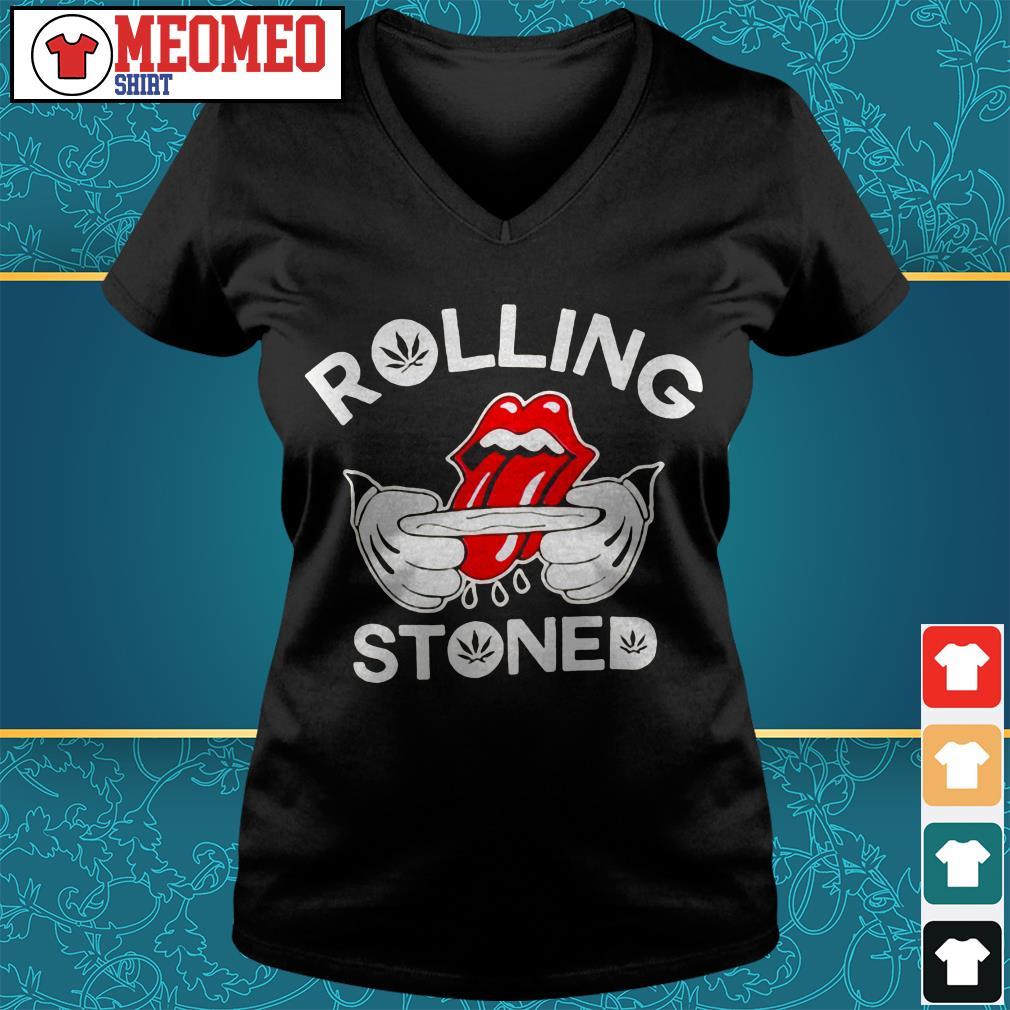 Rolling stones V-neck t-shirt