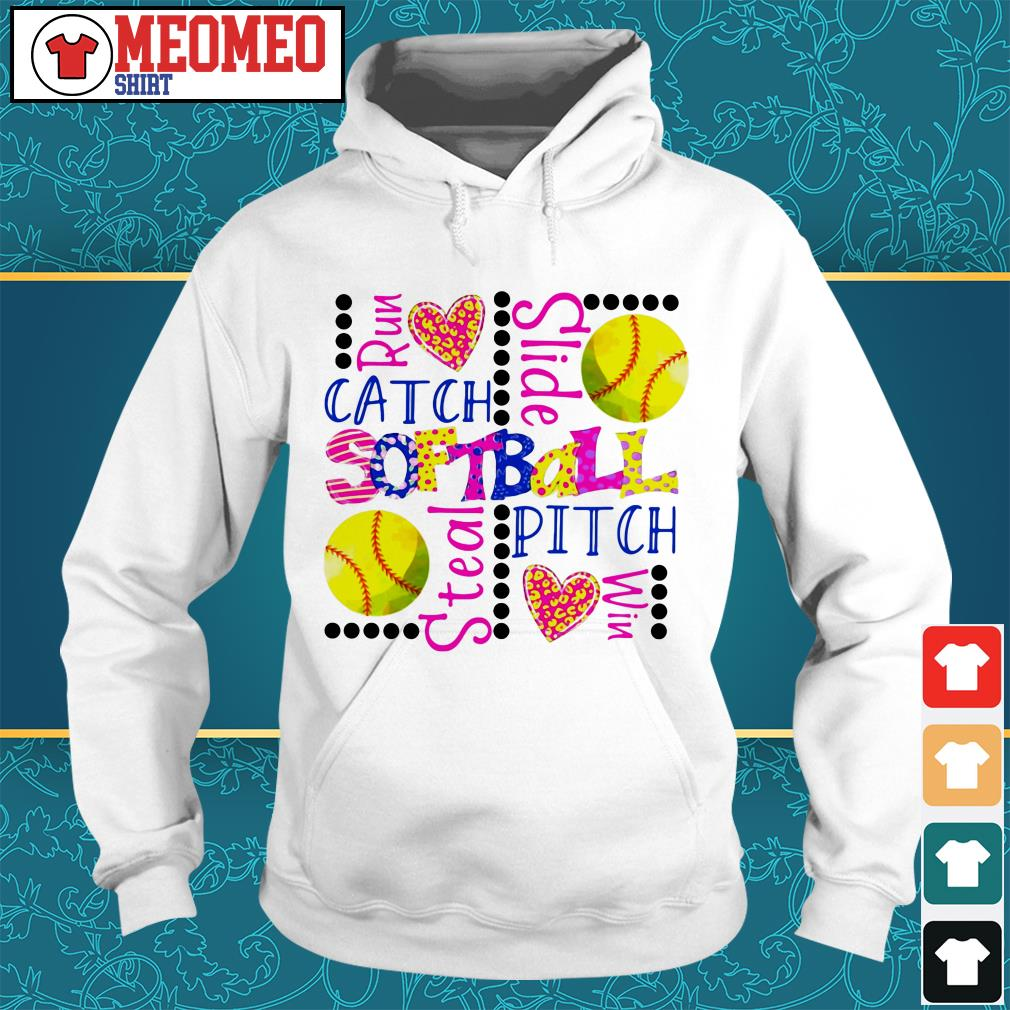 Run catch slide softball stealth pitch win Hoodie