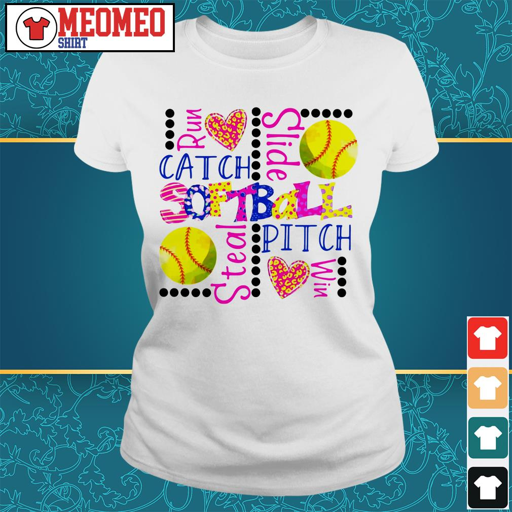 Run catch slide softball stealth pitch win Ladies tee