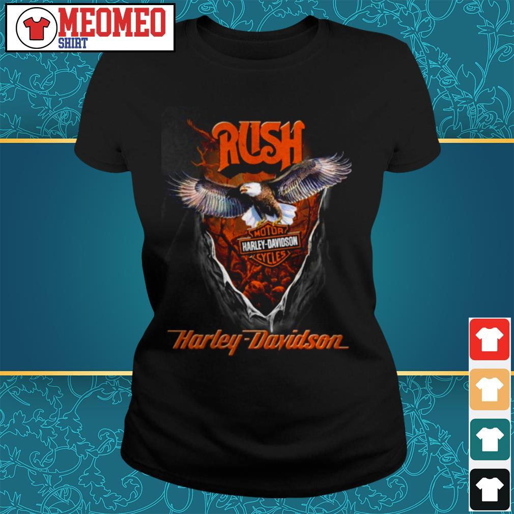 Rush Harley Davidson motorcycles Ladies tee