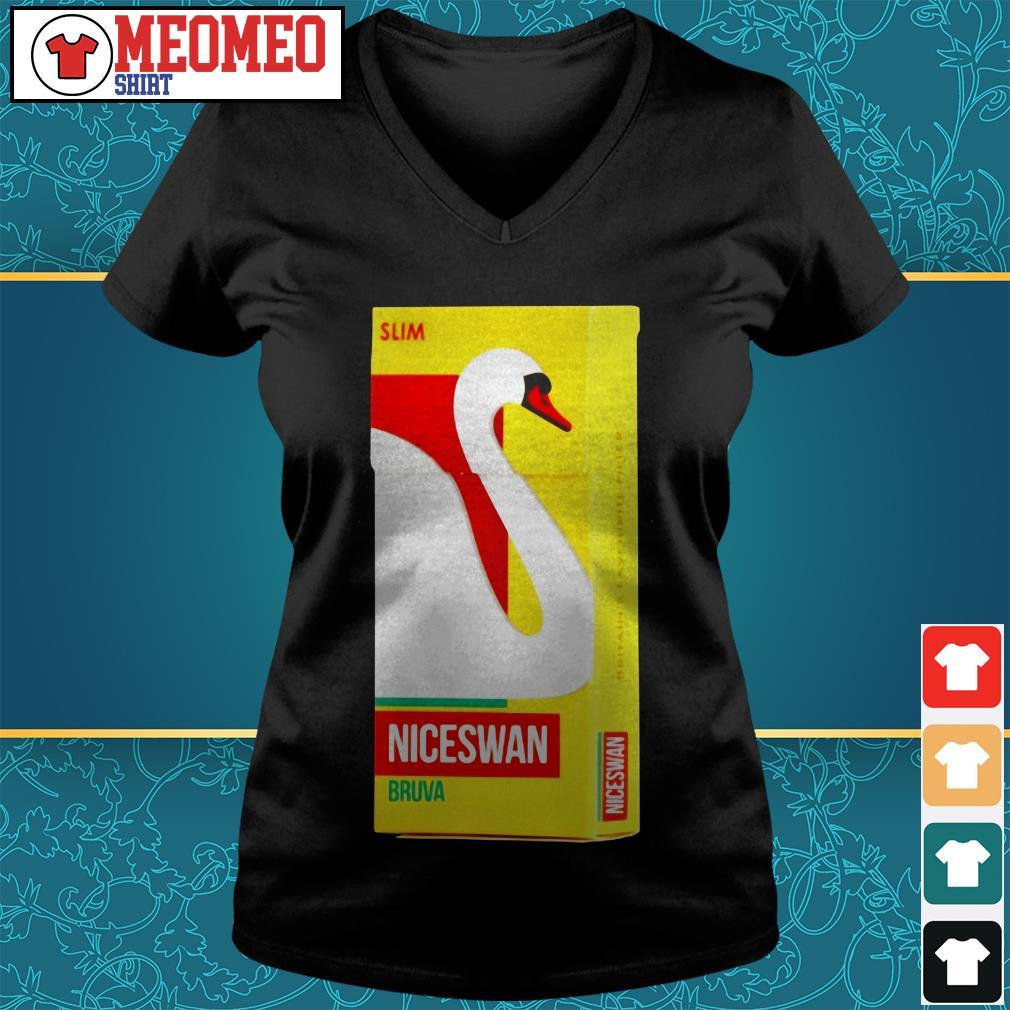 Slom niceswan bruva britain's favourite filter V-neck t-shirt