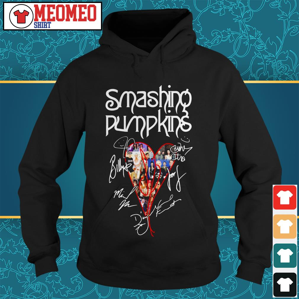 The Smashing Pumpkins band signatures heart Hoodie