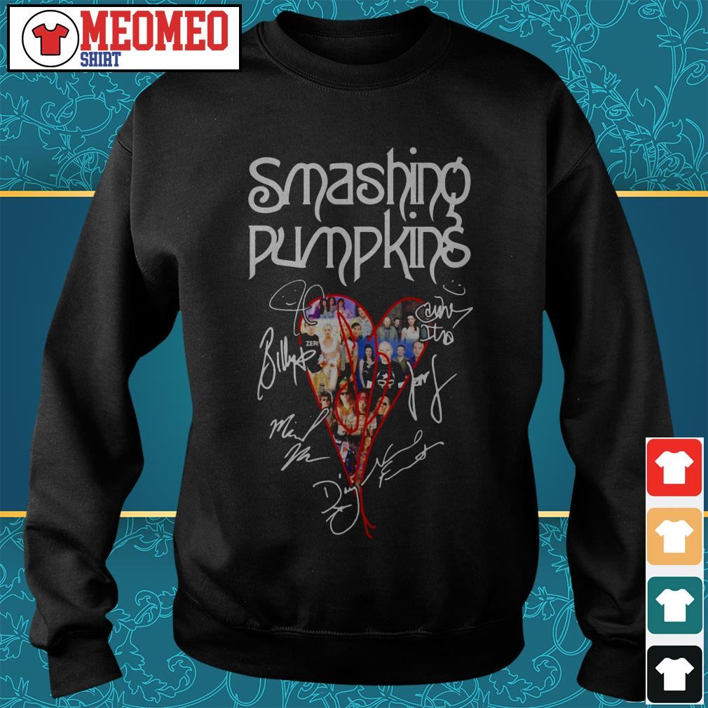 The Smashing Pumpkins band signatures heart Sweater