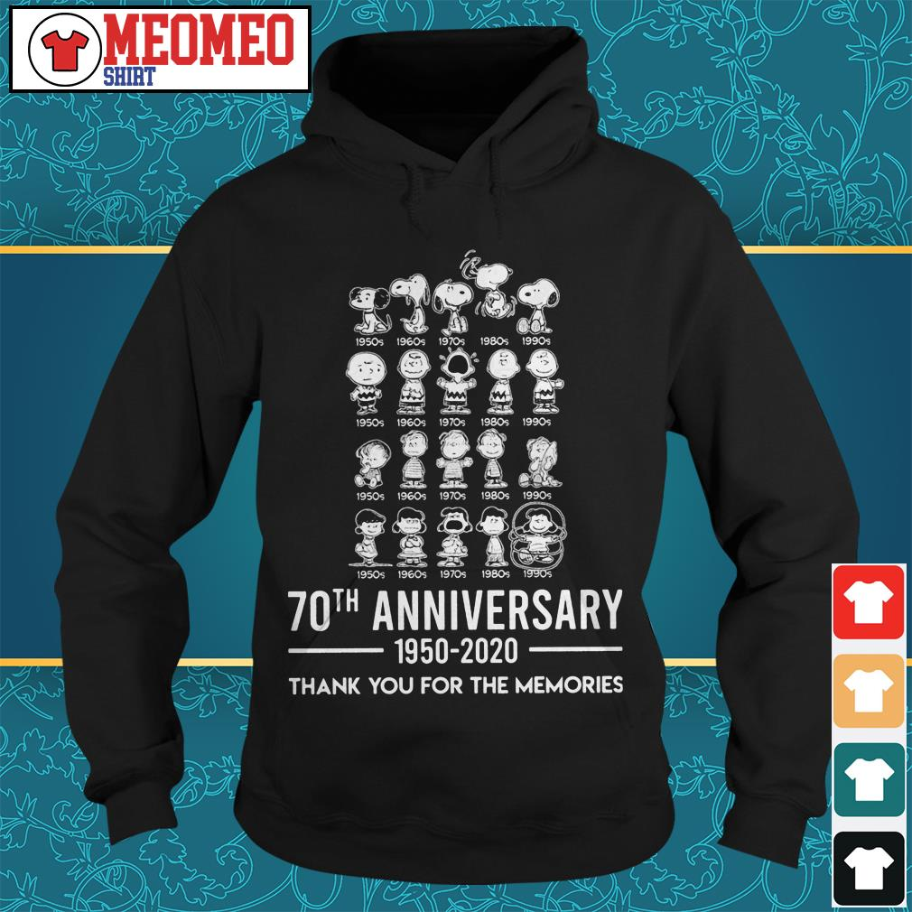Snoopy 70th anniversary 1950-2020 thank you for the memories Hoodie
