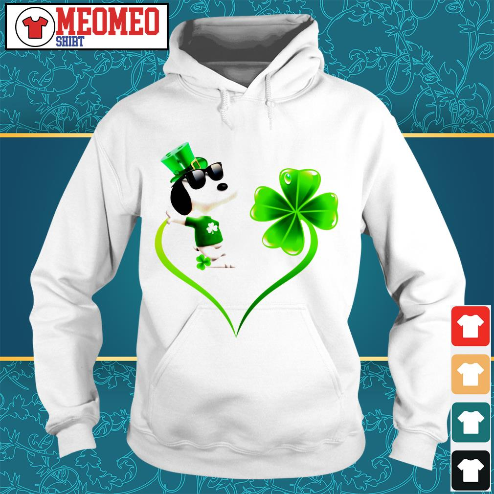 Snoopy Irish and lucky heart Hoodie