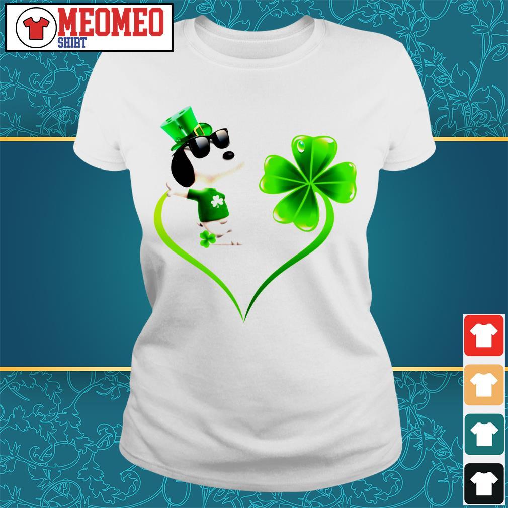 Snoopy Irish and lucky heart Ladies tee
