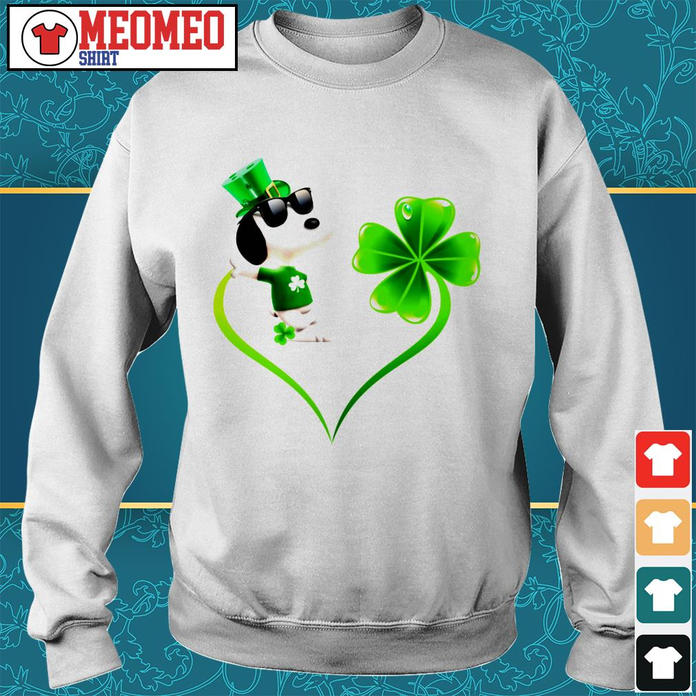 Snoopy Irish and lucky heart Sweater