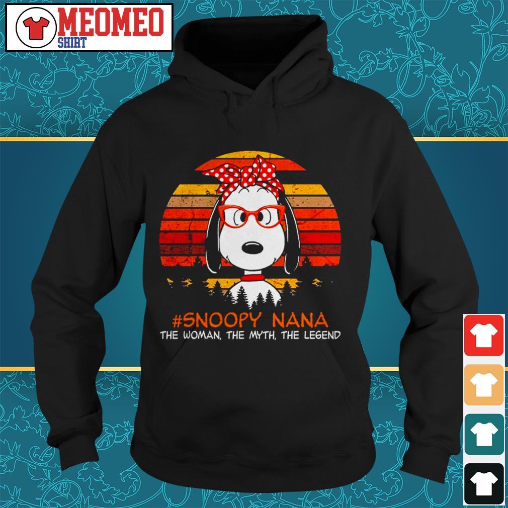 Snoopy Nana the woman the myth the legend Hoodie