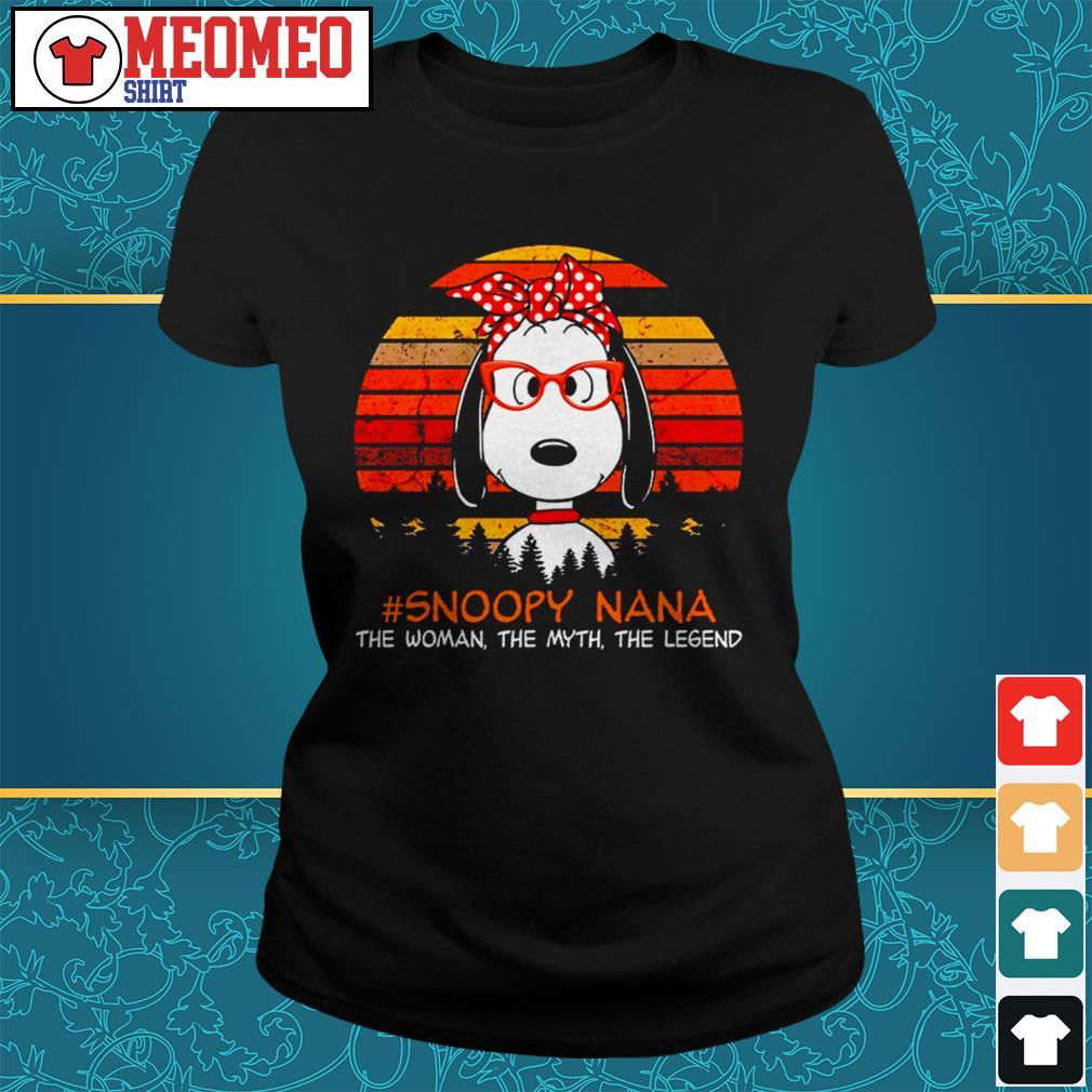 Snoopy Nana the woman the myth the legend Ladies tee