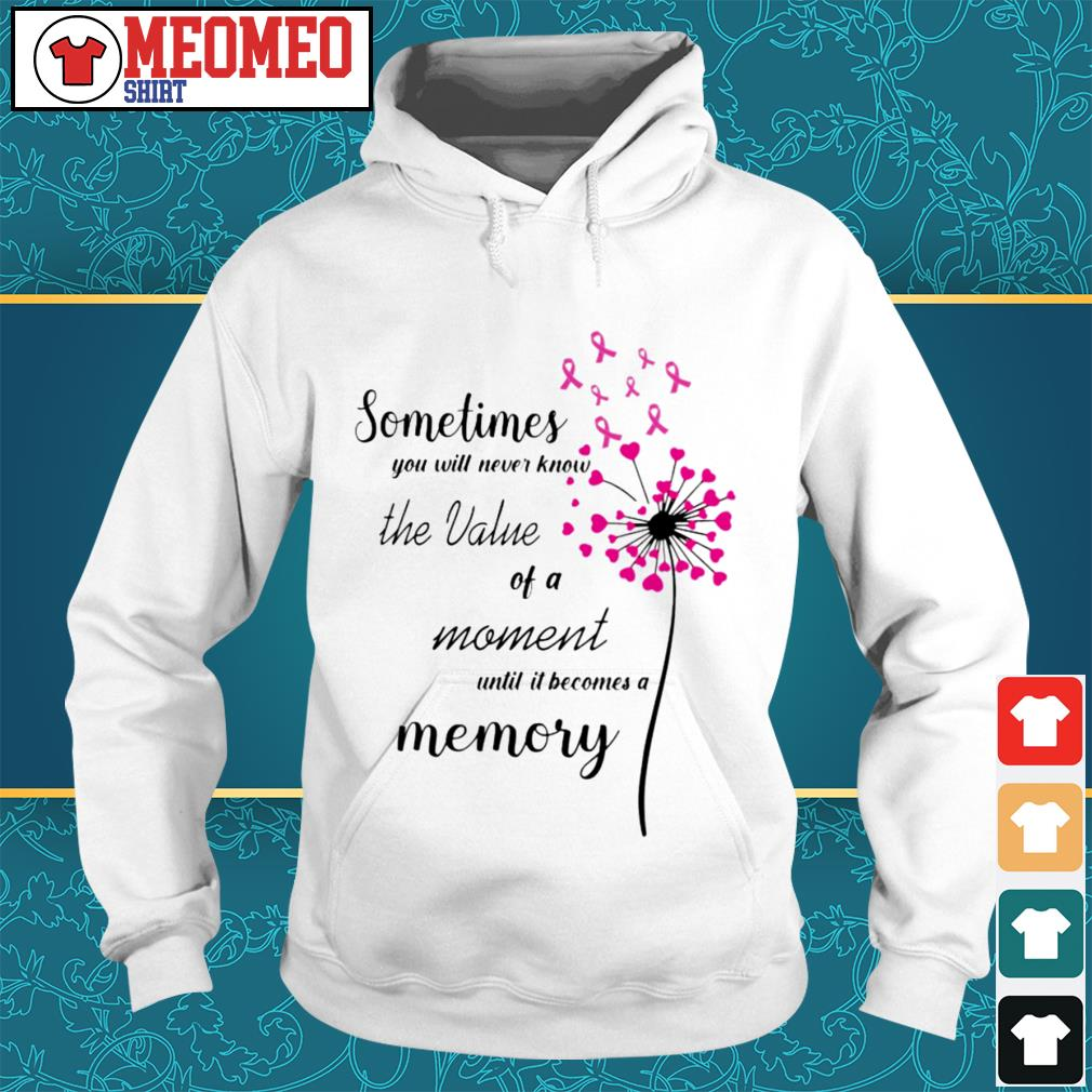 Sometimes you will never know the value of a moment until it becomes a memory Hoodie