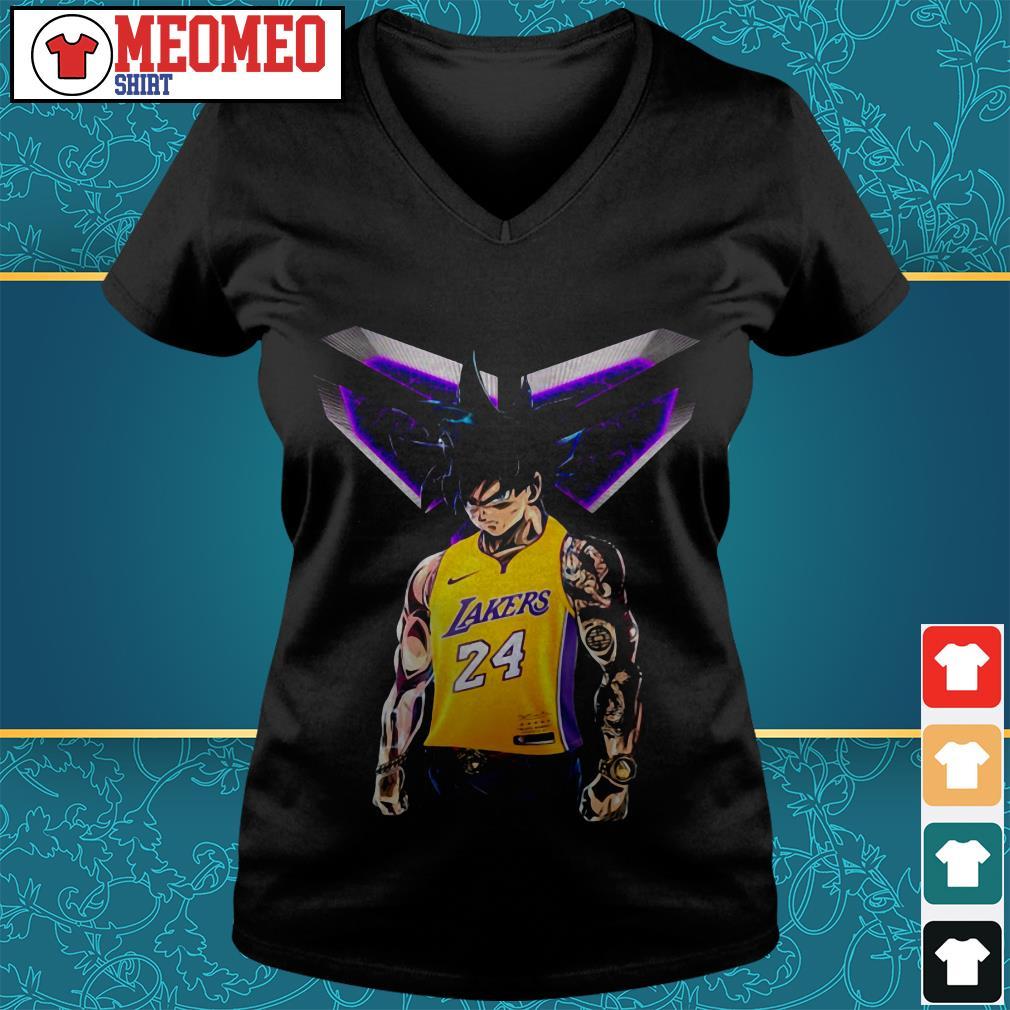 Songoku Ultra Instinct Kobe Bryant Lakers 24 V-neck t-Shirt