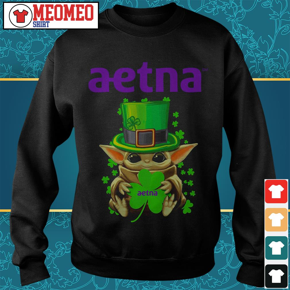 St Patrick's day Baby Yoda aetna Sweater