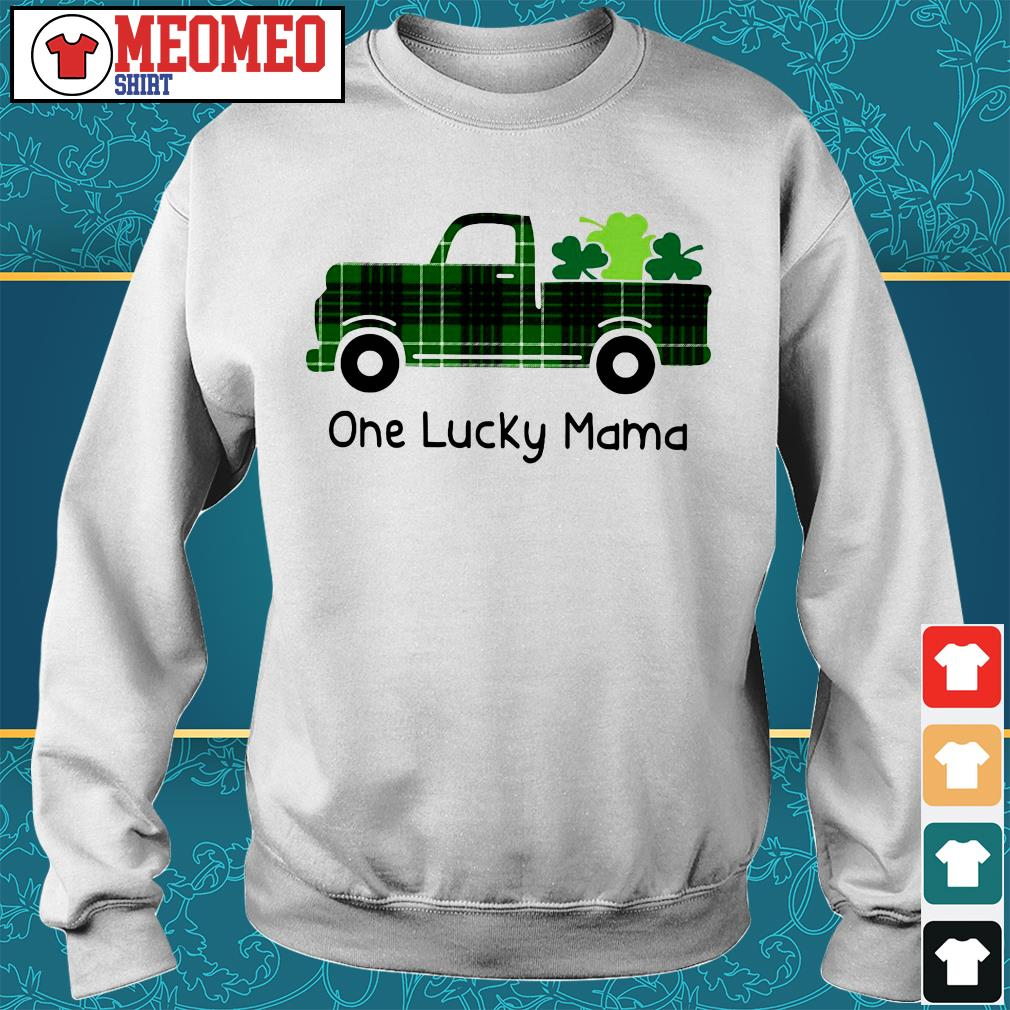 St Patrick's day car one lucky mama Sweater