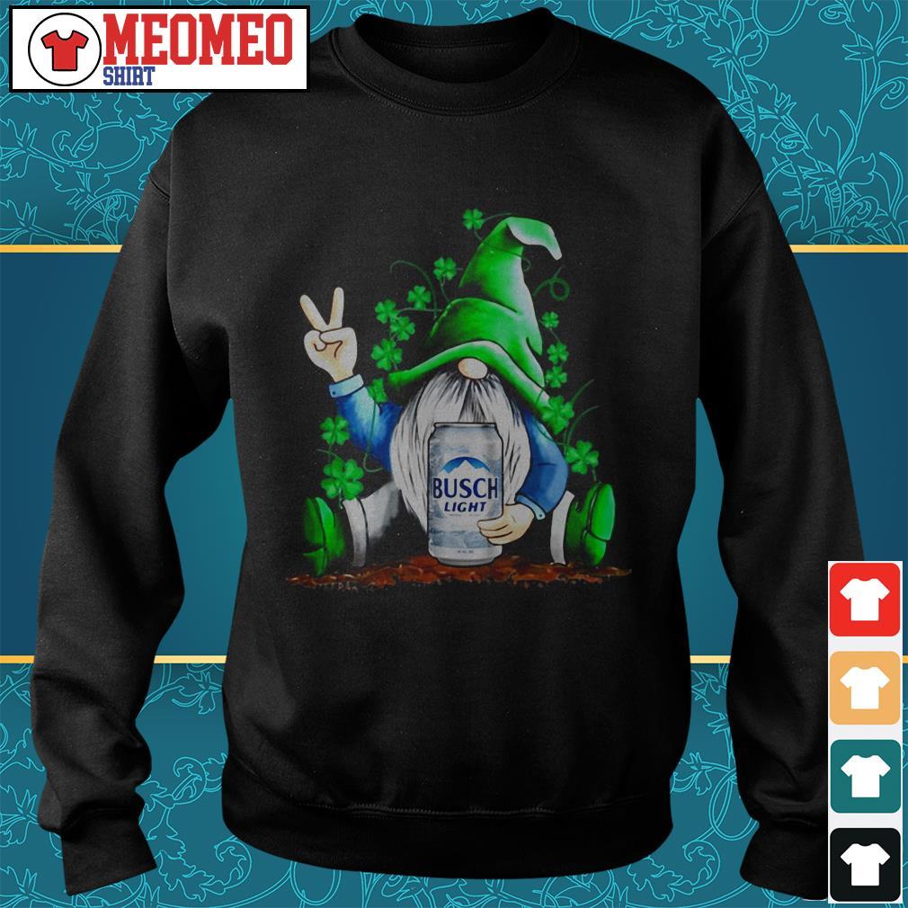 St Patrick's Day Gnome hug Busch Light Sweater
