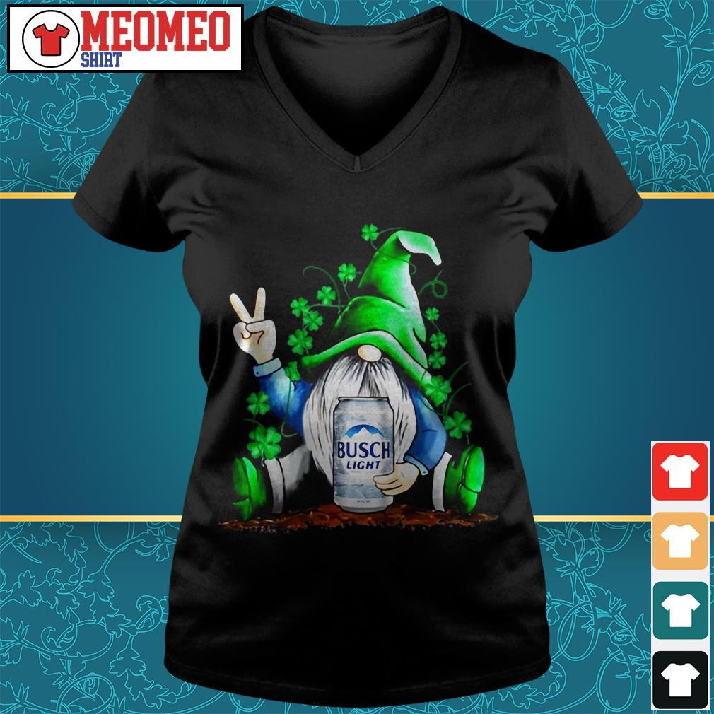St Patrick's Day Gnome hug Busch Light V-neck t-shirt