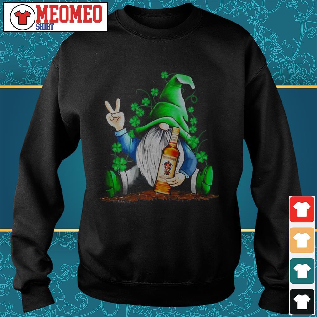 St Patrick's Day Gnome hug Captain Morgan Rum Sweater