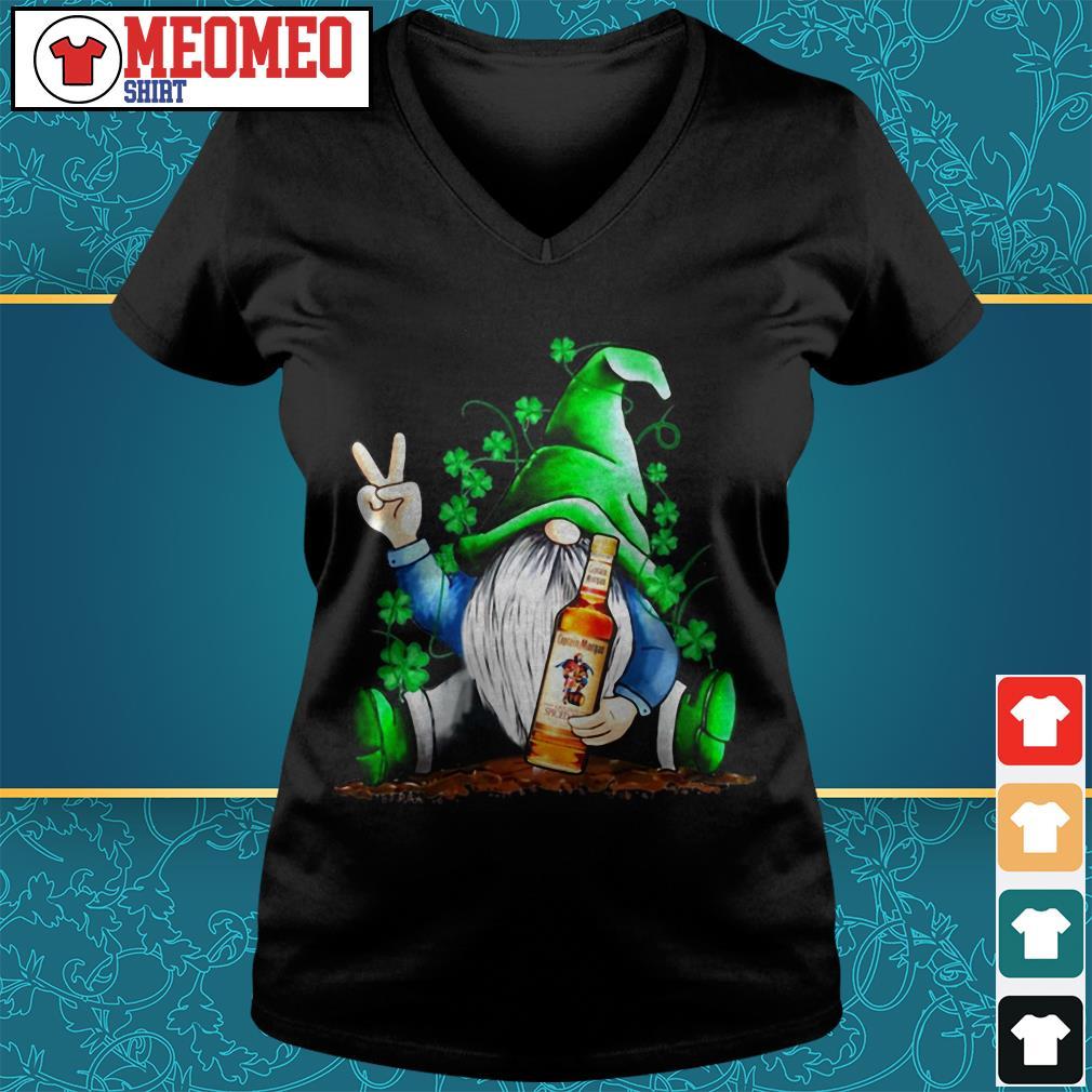 St Patrick's Day Gnome hug Captain Morgan Rum V-neck t-shirt