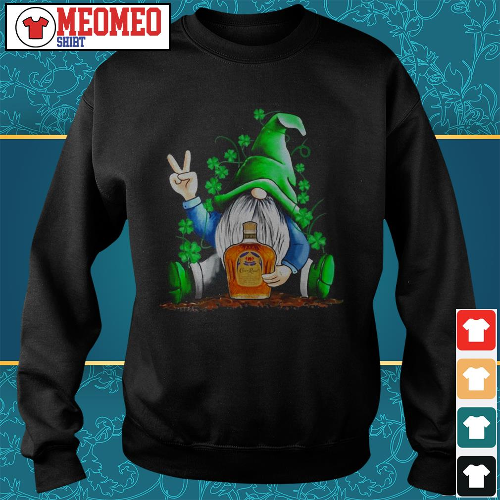 St Patrick's Day Gnome hug Crown Royal Sweater
