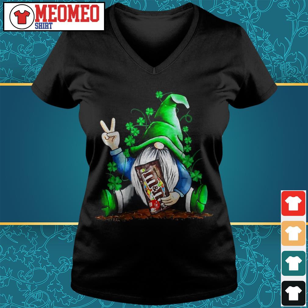 St Patrick's Day Gnome hug M&M's V-neck t-shirt