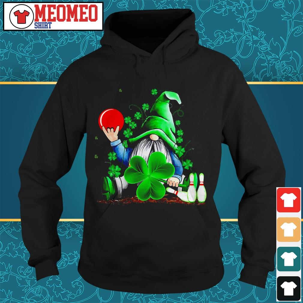 St Patrick's day Gnomie bowling Hoodie
