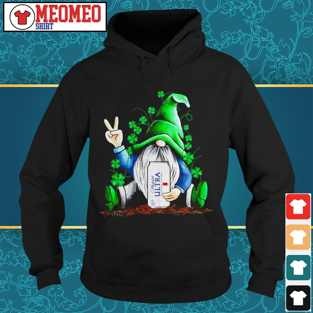 St Patrick's Day Gnomie Michelob Ultra Lager Hoodie