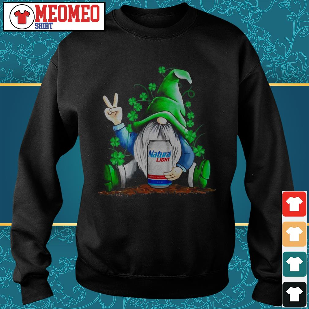 St Patrick's Day Gnomie Natural Light beer Sweater