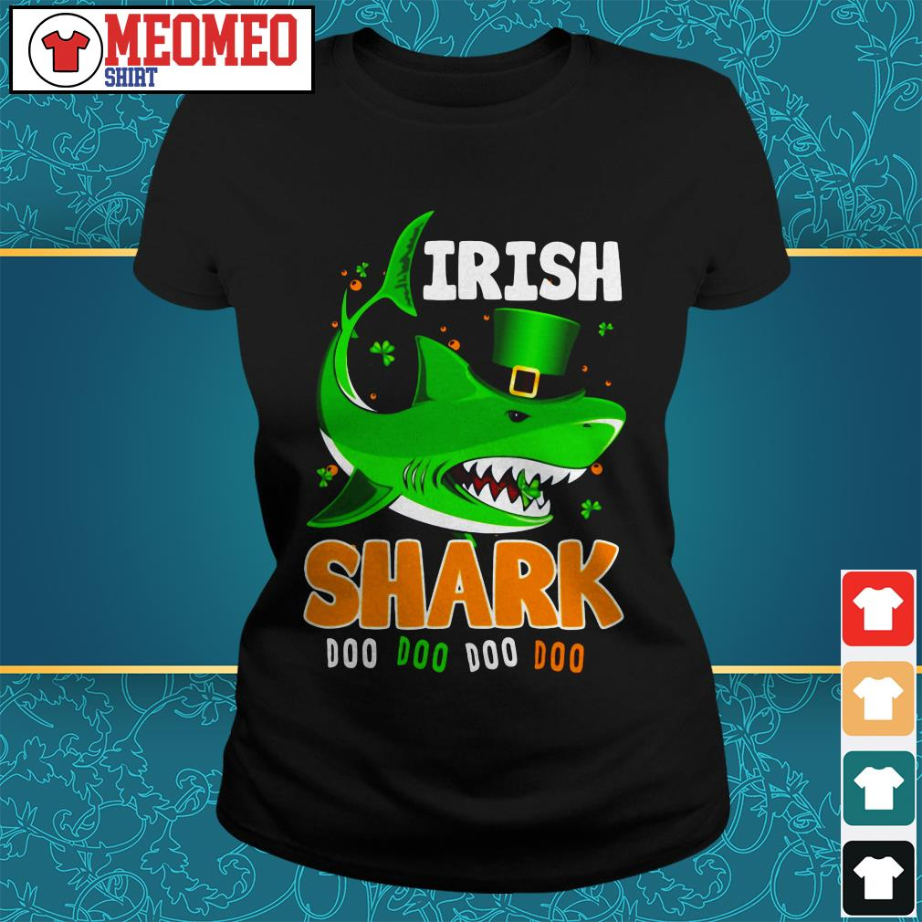St Patrick's Day Irish shark doo doo doo doo Ladies tee